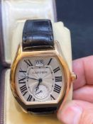 18ct Rose Gold Cartier Roadster Automatic Watch