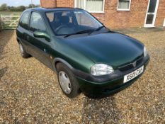 BY ORDER OF THE EXECTOR: 2000 VAUXHALLCORSA CLUB 12v 3 DOOR 973cc - 56k MILES