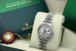 ROLEX DATEJUST (LADY) - STAINLESS STEEL with a DIAMOND DIAL
