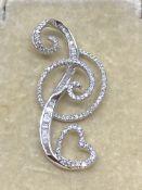Fine 18ct White Gold Diamond Set Pendant
