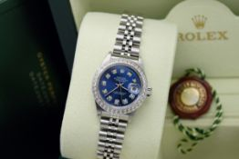 ROLEX DATEJUST (LADY) - STAINLESS STEEL with a DIAMOND NAVY DIAL