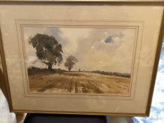 James Fletcher Watson - Stubblefields Windrush Watercolour Painting