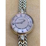 18ct Gold Ladies Jaeger Le Couture Watch Manual Wind 20mm