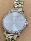Ladies Piaget Diamond Set 18ct Gold Watch 25mm