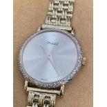 Ladies Piaget Diamond Set 18ct Gold Watch 25mm