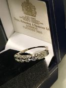STUNNING 18ct Gold 1.1ct VS/ SI 7-Stone Half Eternity Diamond Ring