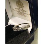 STUNNING 18ct Gold 1.1ct VS/ SI 7-Stone Half Eternity Diamond Ring