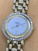 18ct Gold & Diamond Chopard Ladies Watch 24mm - 1.00ct of Diamonds - 60g