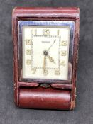VINTAGE JAEGER LE COULTRE TRAVEL CLOCK
