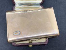 RARE RUSSIAN HALLMARK DIAMOND SET CARD CASE - 142 GRAMS 14ct GOLD