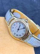Unusual Cartier Ladies 18ct Gold Watch - Diamond Set - 62g