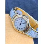 Unusual Cartier Ladies 18ct Gold Watch - Diamond Set - 62g
