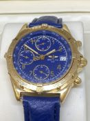 18ct GOLD BREITLING CHRONOGRAPH WATCH WITH BOX