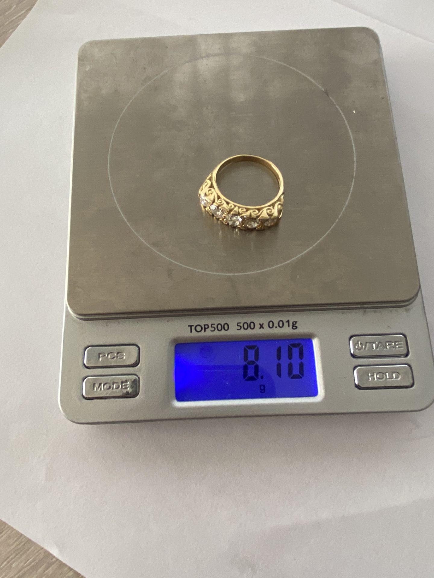 FINE 18ct YELLOW GOLD 2.00ct 5 STONE DIAMOND RING - Image 4 of 15