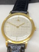 18ct GOLD JAEGER LE COULTRE WATCH