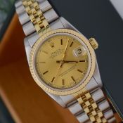 Rolex Datejust 'Champagne' Ref. 68273 31mm (Mid-size) - Steel/ 18ct Yellow Gold Bezel/ Crown Model