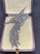 GOLD & SILVER BIRD PENDANT SET WITH ROSE DIAMONDS