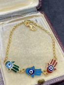 21kt ENAMELLED BRACELET WITH 9ct GOLD CLASP
