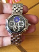 RARE GERALD GENTA SOLID PLATINUM WATCH  COMES WITH 25k VALUATION  171 GRAMS