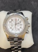 Breitling Super Avenger A13370 Stainless Steel Watch with Box