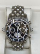 MAURICE LACROIX STAINLESS STEEL CHRONOGRAPH WATCH