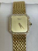 18ct GOLD CHOPARD DIAMOND SET WATCH 54 GRAMS
