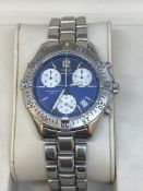 BREITLING CHRONOGRAPH STAINLESS STEEL WATCH