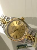 Rolex Datejust 'Champagne' 31mm (Mid-size) Ref. 68273 - Steel/ 18ct Yellow Gold