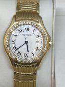 18ct GOLD CARTIER DIAMOND SET WATCH - 126 GRAMS