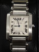 CARTIER STAINLESS STEEL FRANCAISE WATCH