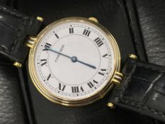 CARTIER 18ct GOLD TRINITY 3 COLOUR GOLD WATCH