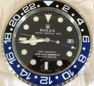 WALL CLOCK MARKED ROLEX