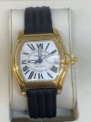 18ct GOLD CARTIER ROADSTER AUTOMATIC WATCH