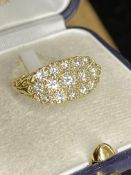 18ct YELLOW GOLD 3.27ct DIAMOND RING WITH 11K INSURANCE VALUATION