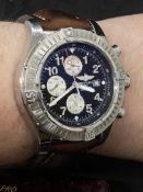 BREITLING Super Avenger A13370 - Blue Dial Watch