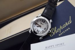 Chopard Happy Sport - Diamond Model with Mother of Pearl Dial! With Certificate!