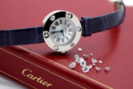 Ladies Cartier 'Love' Watch - WE800131 - White Gold and Diamonds - Box and Papers!