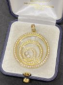 CHOPARD STYLE FLOATING 4.50ct DIAMOND PENDANT 18ct GOLD - 25 GRAMS