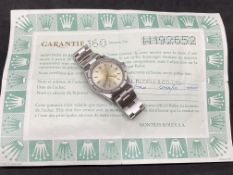 ROLEX OYSTER PERPETUAL AIR KING WATCH WITH ROLEX CERTIFICATE