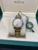 Rolex Steel & Gold Midsize Watch with Box
