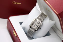 Cartier Tank (Mens Model) - 2302 / W51002Q3 - Stainless Steel - Roman Numeral Dial