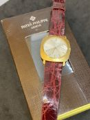 18ct GOLD PATEK PHILIPPE WATCH WITH PP SERVICE BOX
