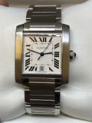 STAINLESS STEEL AUTOMATIC CARTIER WATCH