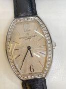 Vacheron Constantin 18k Gold Watch set with Diamonds