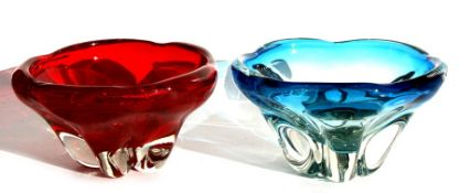 Two large Whitefriars art glass bowls, 26cms (10.25ins) diameter.Condition ReportBoth in good