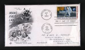 A First Day Cover - Man's First Landing on the Moon - postal stamps for Washington DC September 9,