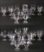 A quantity of 18th / 19th century rummers and similar glasses.