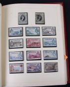 An album of Gibraltar stamps from 1886 - 1980's including an Edward VIII eight shillings; together
