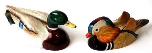 Two Beswick Peter Scott Approved birds comprising Mallard and Mandarin Duck (2).