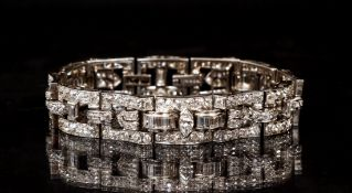 Cartier Diamond and .900 Platinum Bracelet